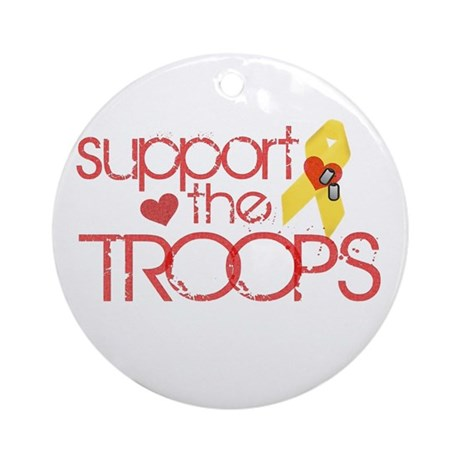 Support the TROOPS Ornament (Round)