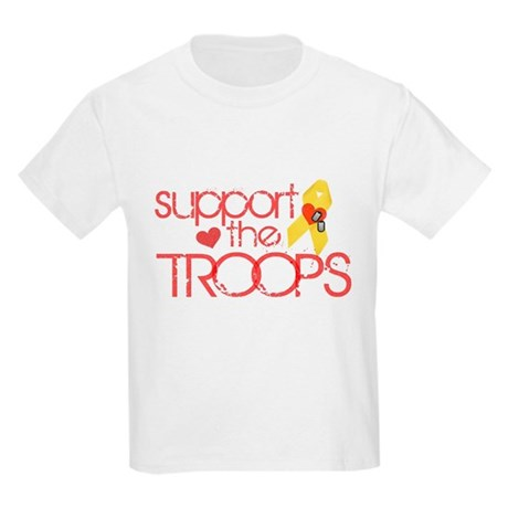 Support the TROOPS Kids Light T-Shirt
