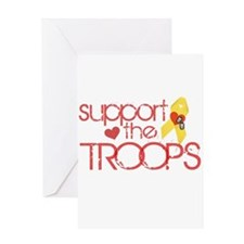 Support the TROOPS Greeting Card