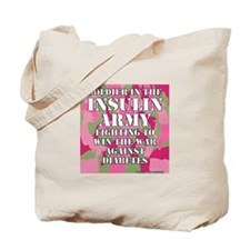 Insulin Army- Pink/Green Tote Bag