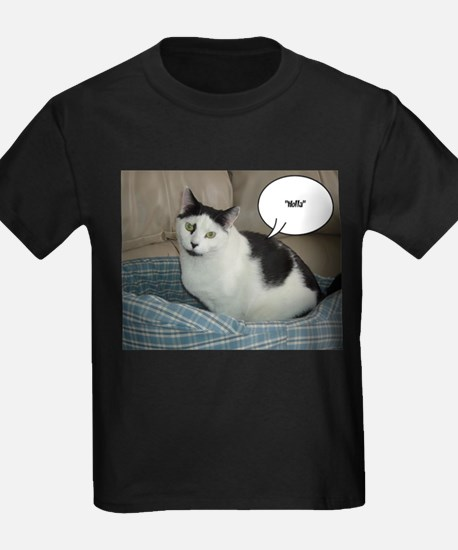 Funny White and Black Cat T