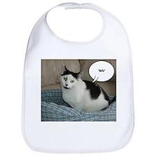 Funny White and Black Cat Bib