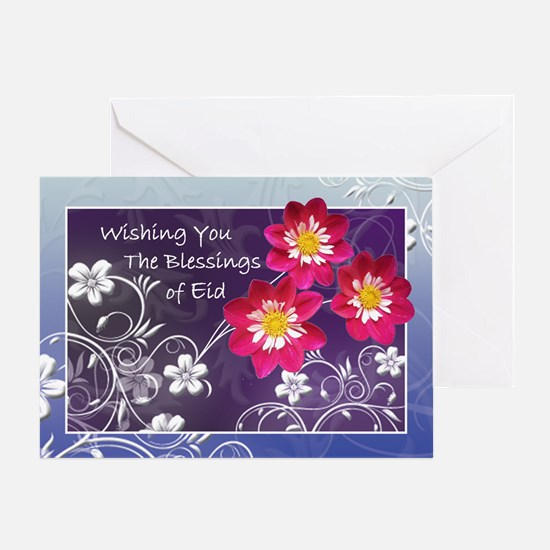 Floral Eid Blessings Greeting Card