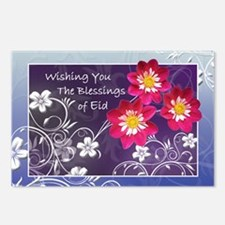 Floral Eid Blessings Postcards (Package of 8)