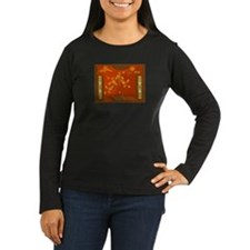 Abstract Burnt Desert Women's Long Sleeve T