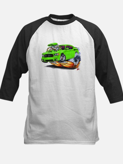 Charger Daytona Green Car Kids Baseball Jersey