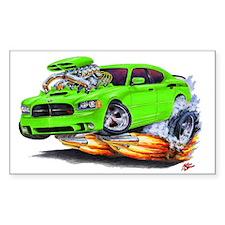 Charger Daytona Green Car Rectangle Decal