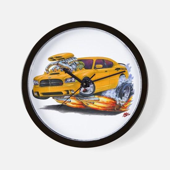 Charger Daytona Orange Car Wall Clock