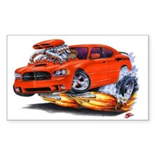 Charger Daytona Red Car Rectangle Decal