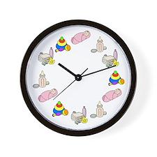 Newborn Baby Girl Wall Clock
