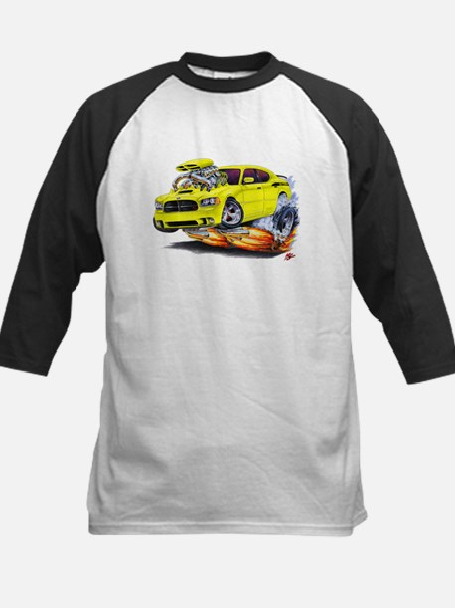 Charger Daytona Yellow Car Kids Baseball Jersey