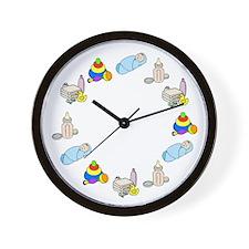 Newborn Baby Boy Wall Clock