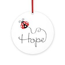 Ladybug Hope Ornament (Round)