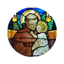 St Anthony window Ornament (Round)