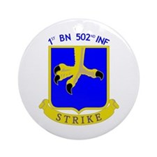 1st BN 502nd INF Ornament (Round)