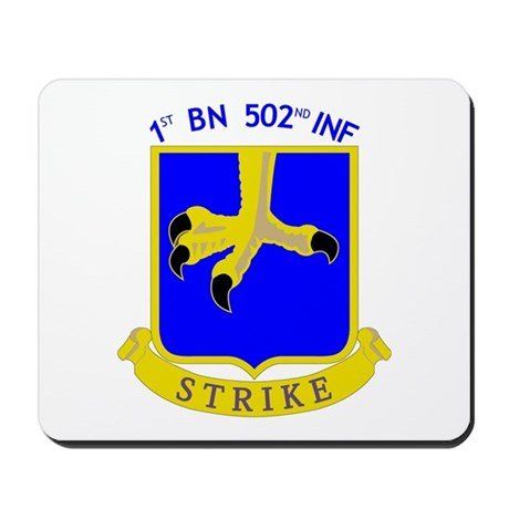 1st BN 502nd INF Mousepad