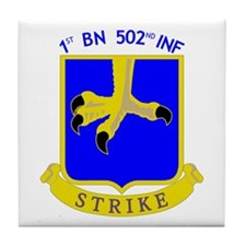 1st BN 502nd INF Tile Coaster