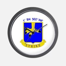 1st BN 502nd INF Wall Clock