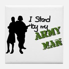 Funny Army wives Tile Coaster