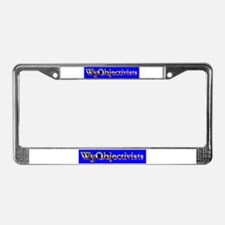 WyObjectivists License Plate Frame