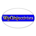 WyObjectivists Oval Sticker