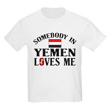 Somebody In Yemen Kids T-Shirt