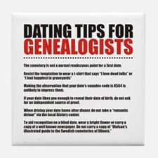 Dating Tips Tile Coaster