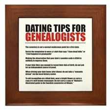 Dating Tips Framed Tile