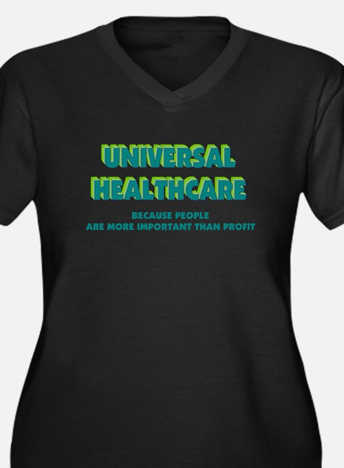 Universal HealthCare Women's Plus Size V-Neck Dark