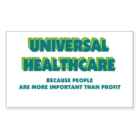 Universal HealthCare Rectangle Sticker