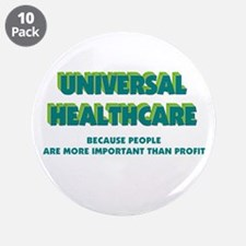 """Universal HealthCare 3.5"""" Button (10 pack)"""