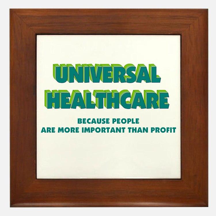 Universal HealthCare Framed Tile