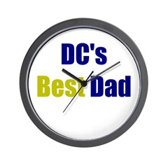 DC's Best Dad Wall Clock