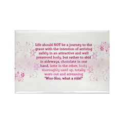 Life is for living Rectangle Magnet (100 pack)