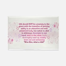 Life is for living Rectangle Magnet (10 pack)