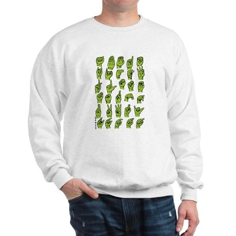 Finger Signing A to Z Sweatshirt