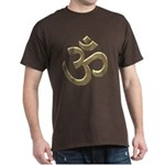 Golden Ohm & Buddha Quote Dark T-Shirt