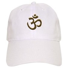 Golden Ohm & Buddha Quote Baseball Cap