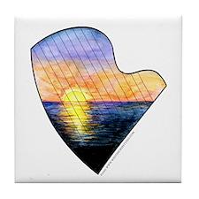 Sunset Strings Tile Coaster