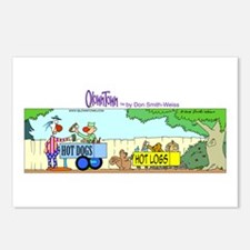 Funny Clown dogs Postcards (Package of 8)