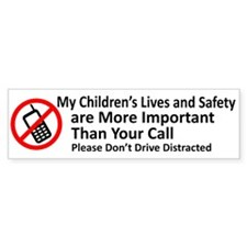 Don't Drive Distracted Bumper Bumper Sticker