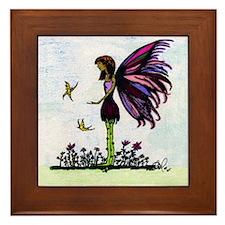 Colorful Fairy Doodle Framed Tile