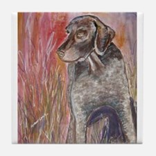 """Cooper "" a German Shorthaire Tile Coaster"