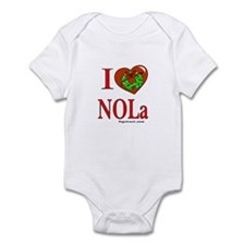 Funny New orleans christmas snowman Infant Bodysuit