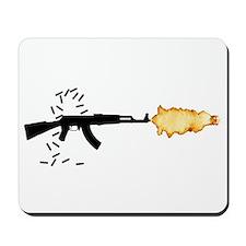 Firing AK-47 Assault Rifle Mousepad