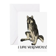 Unique Werewolves Greeting Cards (Pk of 10)