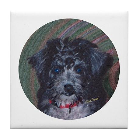 Poodle Mix Tile Coaster