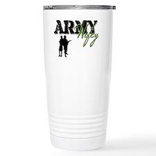 Designs of an Army Wifey Travel Mug