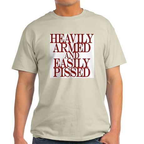 Heavily Armed Ash Grey T-Shirt