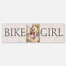 TOP Bike Girl Bumper Bumper Bumper Sticker